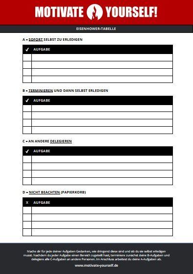 Eisenhower-Tabelle als kostenlose Vorlage herunterladen
